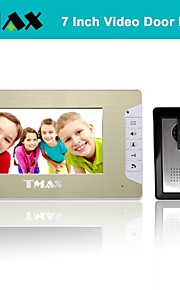 "TMAX® 7"" LCD Video Door Phone Doorbell Home Entry Intercom with 500TVL Night Vision Camera"