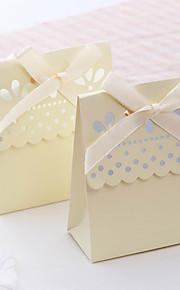 Schattige geschulpte ivoorkleurige bedankjesverpakking (set van 12)