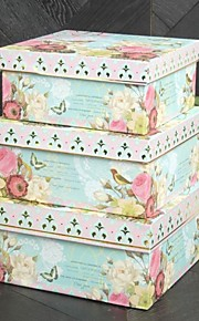 Papier de conception de fleur de printemps Carte faveur Box (Lot de 3)