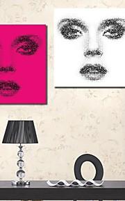 Toiles Tendues art des gens face à la Série de deux de la femme créative