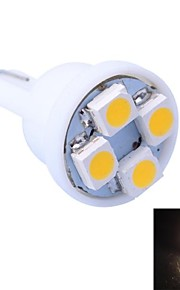 t10 4w 120lm 4x3528 SMD LED køligt / varmt lys til bil instrumentbrættet / dør / trunk lamper (dc 12v ,, 1stk)