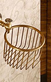 Finition bronze antique en laiton massif Salle de bain serviette de papier Commander