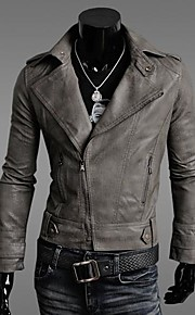 Men's Slim leather jacket