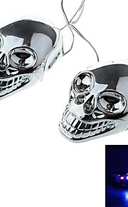 dty schedel stijl 4 geleid decoratieve lamp sticker voor auto's, motorfietsen (2 stuks)