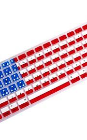 """coosbo® usa flag silicone della pelle della copertura della tastiera per 11.6 """", 13.3"""", 15.4 """", 17"""" MacBook Air pro / retina"""