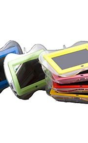 7-pulgadas marco de forma lcd manzana de fotos digital con control remoto de vídeo de música (colores surtidos)