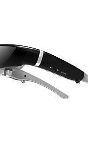 GLOWOR 98'' 16:9 Wide Screen 3D Video Glasses Video Goggles HMD Support 1080P with AV-IN + 8GB Memory AM98