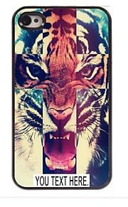 personalisierte Fall Tigermuster Metallkasten für iphone 4 / 4s