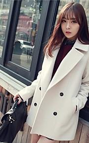 Women's Double Breasted Wool Long Coat