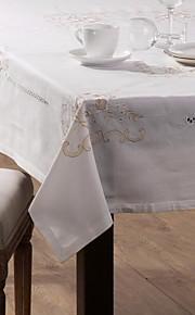 set van een linnen tafelkleed en zes linnen servet doek