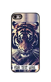 personlig sag tiger design metal etui til iPhone 5 / 5s