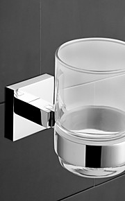 Tumbler Holder,Finish Chrome Material Brass Wall Mounted,Bathroom Accessory