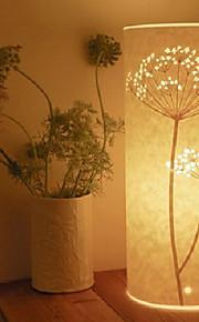플로어 램프 일 빛 복고풍 나무 덧 나 막 신 양피지 갓 220V