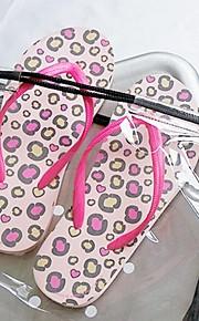 deslizadores de las mujeres de verano personalizados con leopardo rosa cl-14-005-a / b
