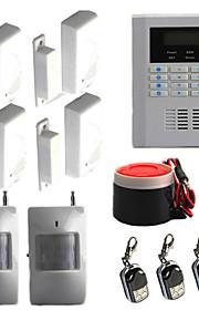 quad-band GSM PSTN trådløs kablede hjem sikkerhed alarm indbrudstyv autoopkald systemet