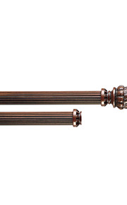 33mm Diameter Retro Antique Walnut Wood Double Rod