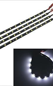 carking ™ 5050-12smd-30cm waterdichte auto decoratieve lamp strip-zwart (4 stuks)