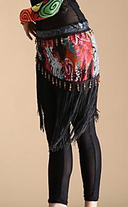 dancewear polyester met kwastjes buikdans prestaties riem voor dames-knippen van willekeurige
