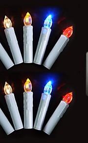 ensemble de 10 couleurs changeantes télécommande conduit arbre de Noël bougie