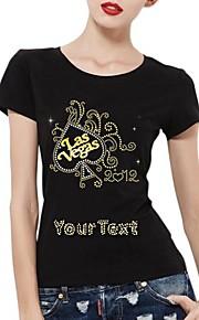 katoen korte mouwen's gepersonaliseerde strass t-shirts las vegas patroon vrouwen