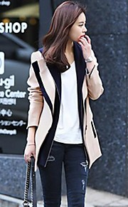 Manteau Aux femmes Manches Longues Décontracté / Travail Mélanges de Coton / Tweed / Polyester