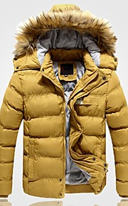 Men's Slim Fur Collar Down Jacket