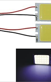carking ™ T10 / BA9S / festoen 28mm ~ 40mm 3.4W 24-cob led wit auto-interieur lichtkoepel (2 stuks)