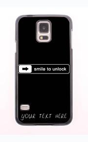 パーソナライズされた携帯電話のケース - サムスンギャラクシーS5 mini用デザイン·金属ケースのロックを解除する笑顔