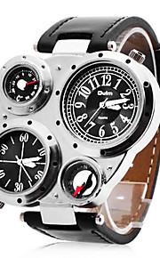 personalisierte Mode Herrenuhr militärische Multifunktions zwei Zeitzonen Kompass und Thermometer