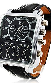 персонализированные модные Argus panoptes - мужские часы военно тройной движение квадратный циферблат кожаный ремешок
