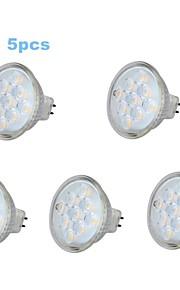 Spot/Ampoule Maïs/Projecteurs PAR Décorative Blanc Chaud 5 pièces MR16/PAR GU5.3 3 W 9 SMD 230 LM 3000-3500 K DC 12/AC 12/AC 24/DC 24 V