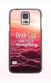 personlig telefon sag - Kære Gud design metal etui til Samsung Galaxy s5 i9600