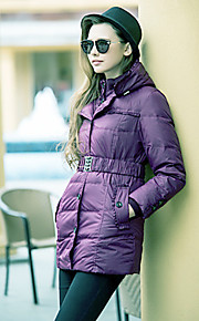 TS Stehkragen Hoodied Belted Down Jacket