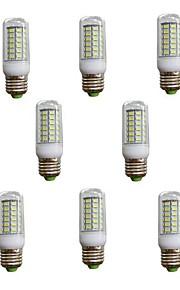 Ampoules Maïs LED Blanc Chaud / Blanc Froid 10 pièces T E26/E27 7W 56 SMD 5730 600 LM AC 100-240 V