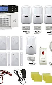 quad-band thuis inbreker alarmsysteem w / afstandsbediening