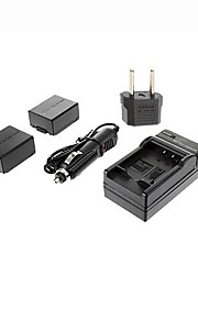 ismartdigi-panasonic BLB13E x2 (1300mAh, 7.2V) kamera batteri + eu stik + billader til DMC-G1 / GH1 / GF1 / G10 / g2