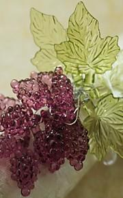 лист с виноградом салфетка кольца Рождество, акрил, 1.77inch, набор 12