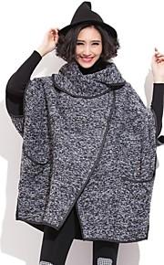 QLZW®Women's  Cape Sleeve Loose Woolen Coat