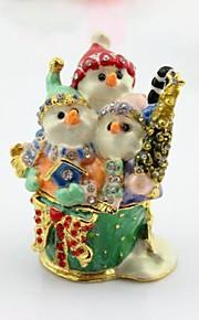 Cadeaux de Noël boîte bijou de bonhomme de neige