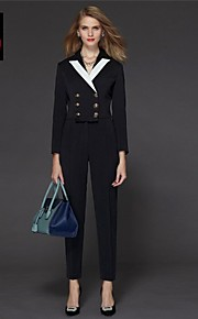 yimilan® Frauen 2015 Frühling Mode Zweireiher siamesische Hose
