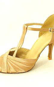 Customized Satin Ruched Latin/Ballroom Performance Shoes (More Colors)