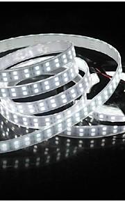 vanntett 5m 144w 600 * 5050 smd 9600lm kjølig hvit dobbel casing undervanns lys ledet strip lampe (DC12V)