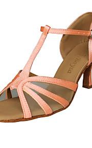 ballroom satijn bovenste roze latin dansschoenen praktijk schoenen voor vrouwen
