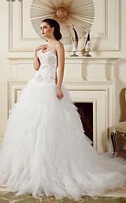 Lanting Bride® Robe de Soirée Petites Tailles / Grandes Tailles Robe de Mariage  Traîne Tribunal Bretelles Tulle avec