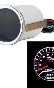 "2 ""52mm egt uitlaatgassen temp gauge meter witte LED auto motor universele smoke lens indicator"