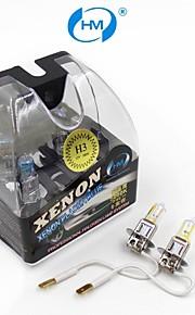 bombillas amarillas HM® 12v h3 halógeno 100w lámpara del faro (un par)