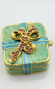 papillon boîte carrée bijou