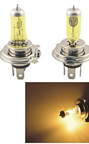 carking ™ kobo 12v h4 faro 100w / 90w 550lm 3000k halógeno coche de color amarillo claro (2 cps)