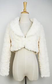 fourrure mode veste à manches longues parti couverture en fausse fourrure / veste décontractée
