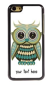 gepersonaliseerd geval mooie uil ontwerp metalen behuizing voor de iPhone 5c